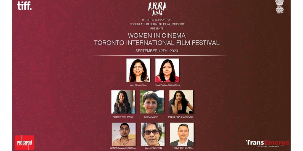 Watch 3 fabulous Indian Women Filmmakers @leenayadav @TannishthaC #AshwiniIyerTewari moderated by @namanrs tonight at 7:30 pm IST in a panel discussion @TIFF_NET Presented by @ArraArts @anusrivastava24  Consultant @sanjaybhutiani produced by #RedCarpetMovingPictures https://t.co/izlFAyn85i