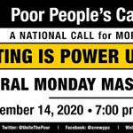 "Image for the Tweet beginning: TODAY! Join #PoorPeoplesCampaign for ""Voting"