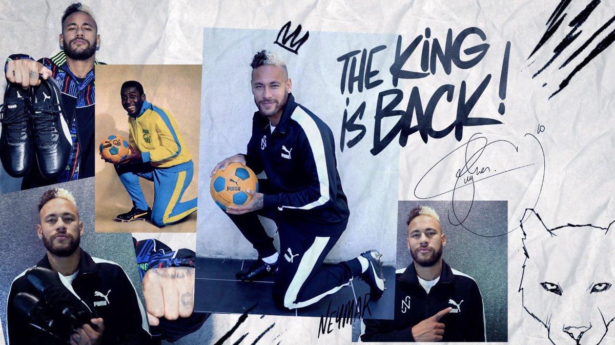 "E aí, gostaram da novidade?😎👑 #KingIsBack  #The King is Back""  Did you like the news?😎👑 #KingIsBack  @PUMAFootball @PUMA #Neymar #NeymarJr #NJr #Football #Futebol #Puma #NeyDay #NeymarFans #NeymarSkills https://t.co/LHr38pyE5l"