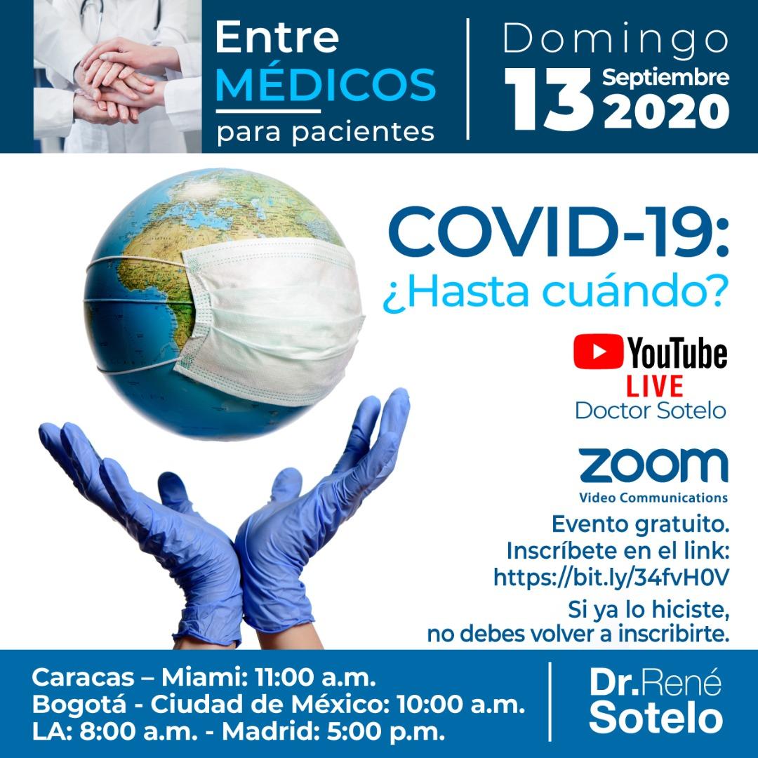 Inscríbete, gratuitamente, en este link https://t.co/5cdMIwdloy y si ya lo hiciste, listo, ya estás en el grupo de #EntreMédicos o vía Youtube: Doctor Sotelo.  8am. LA , 10 am. Ciudad de México y Bogotá, 11am. Caracas y Miami, 5pm. Madrid. #Health #COVID19 #Coronavirus @uscedu https://t.co/FTYbnyWO2C
