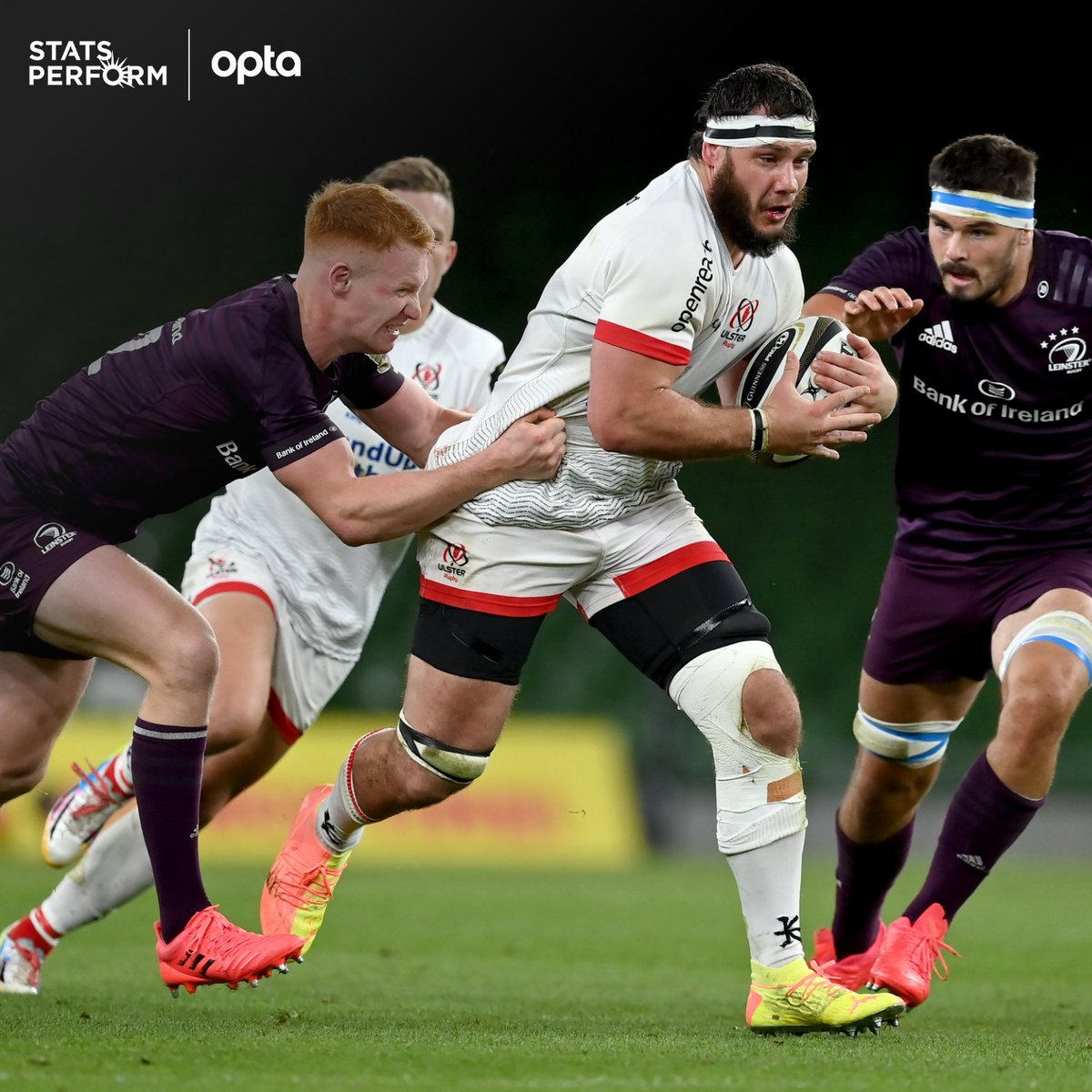 291 - @UlsterRugby have averaged a combined 291 carries (132) and tackles (159) in the @PRO14Official this season, more than any other side, while @leinsterrugby have averaged the second most (276 - 136 carries, 140 tackles). Breathless. https://t.co/SeRfvkmsQc