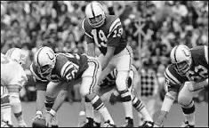 """9/11/02. Call came in that literally buckled my knees. Broadcast partner Dave Barnett said, """"Johnny Unitas died today."""""""