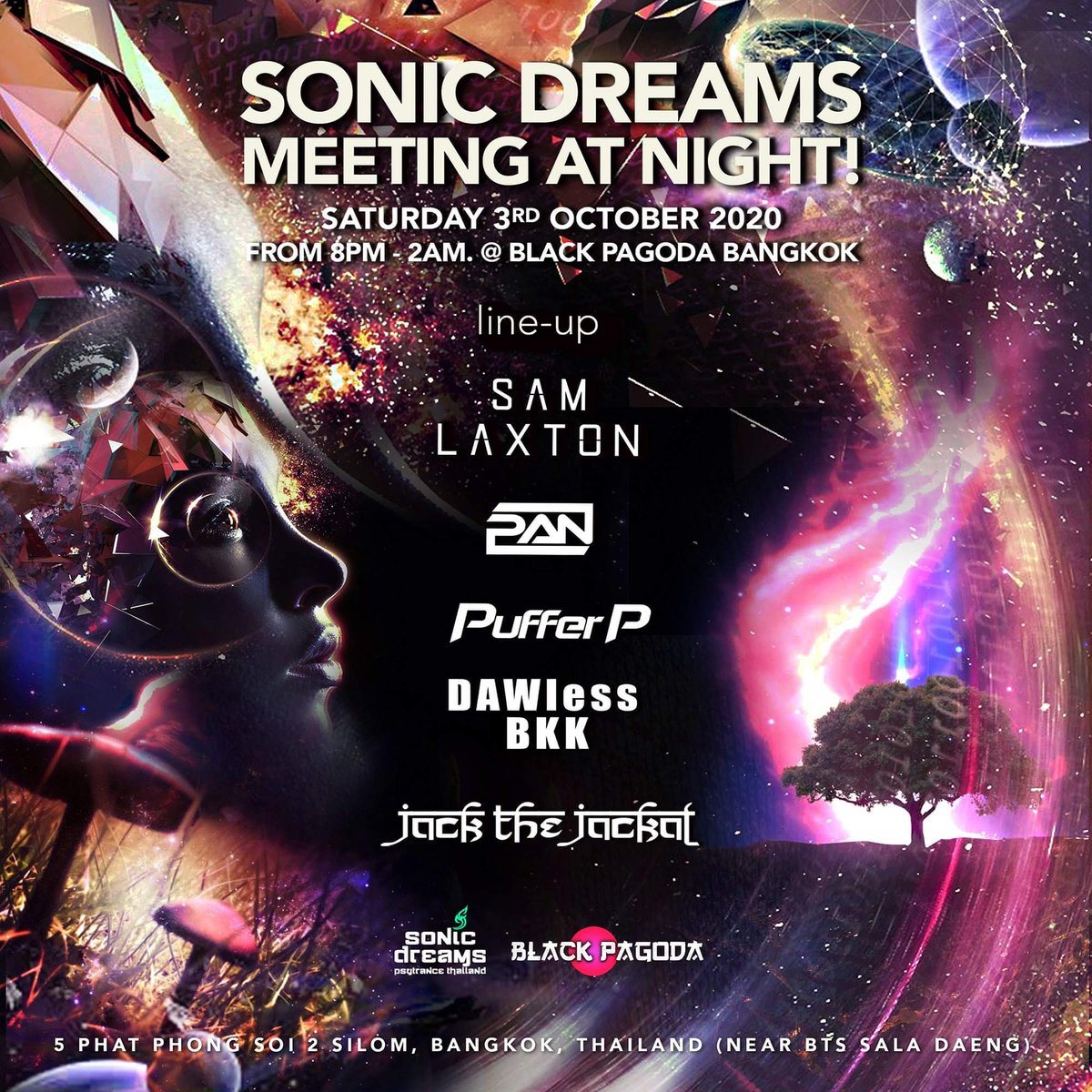 Excited for Sonic Dreams next month! Looking forward to playing PsyTrance again 😀  3rd October at Black Pagoda, Bangkok 🙏 https://t.co/8Q2zv7Ri5k