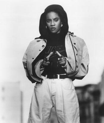 Come on admit, the Lyte is too fly. The rhymes that I say you can't deny. Because 100% is what I give. I haunt the house with the Hip-Hop spirit. TODAY in 89 @MClyte dropped her sophomore album Eye on This 💿🎤