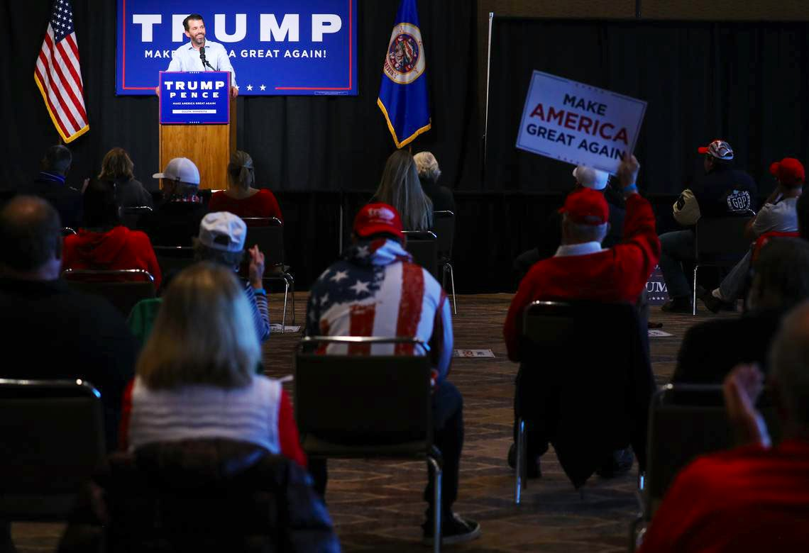 ICYMI: This last week in the Midwest  @DonaldJTrumpJr visits Duluth MN  @LaraLeaTrump visits Council Bluffs IA, Omaha NE & MN's Twin Cities  @TeamTrumpOnTour with @ErinMPerrine, @MattWhitaker46, @mschlapp, @PYNance wraps up a 3 day trek across IA  @TeamTrump ground game is on 🔥 https://t.co/C9is8Fpr18