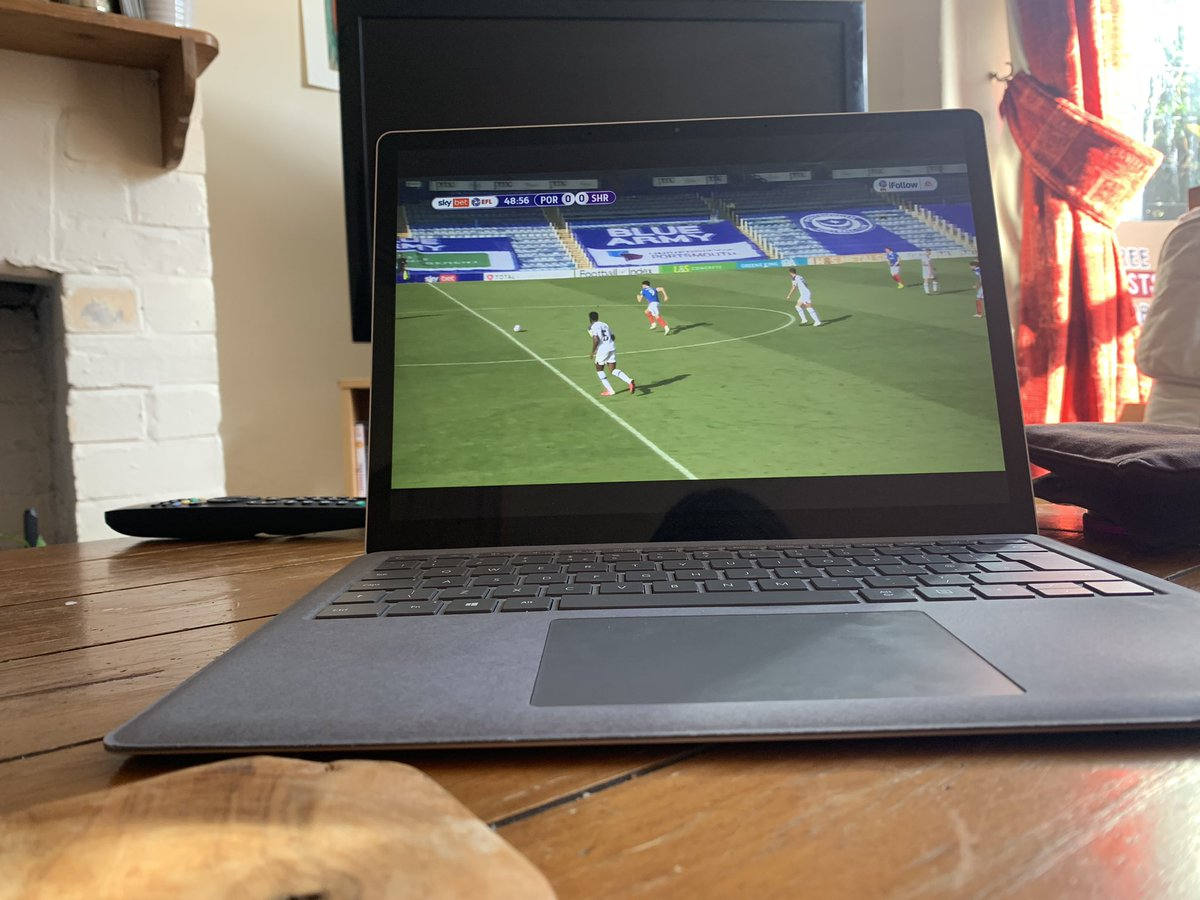 @NickStathamLDR @EFL @EFL_Comms @SamMorecroft Yeah, same. Only managed to connect at half-time though. Although, apparently the Salop game switched over to Sunderland, randomly, for a while so I don't know how much we would have seen of the first half anyway!