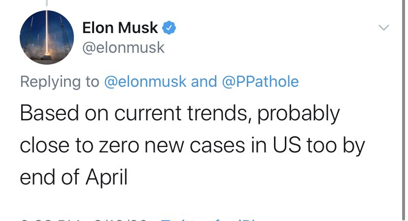 Robert Reich On Twitter Just A Reminder Elon Musk Predicted There Would Be No New Cases Of Covid 19 By End Of April Meanwhile He Reopened Tesla S Factory And Fired Workers Who Didn T