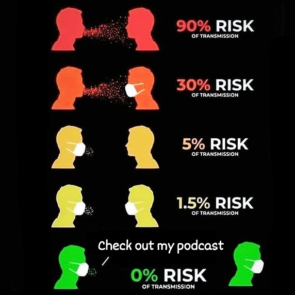 Reduce exposure. Talk about your #podcast.  #StaySafe #WearAMark https://t.co/KPzDL8xeVu