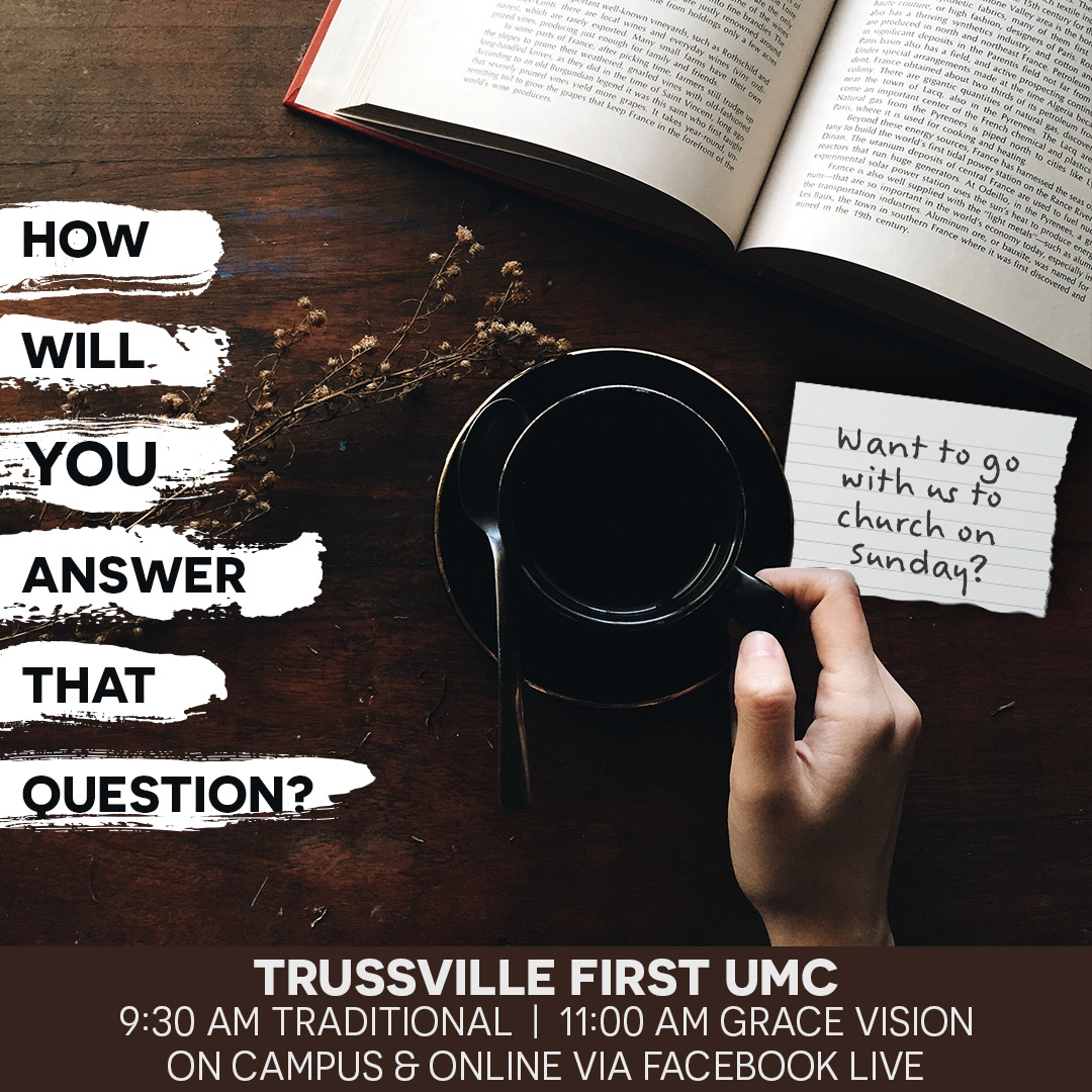 How will YOU answer? Be sure to join us for services each Sunday - in person or online. https://t.co/dDTgjqr5y7 9:30 AM Traditional | 11:00 AM Grace Vision #itssunday #worshipanywhere #UMC https://t.co/mMG5rKPzXo