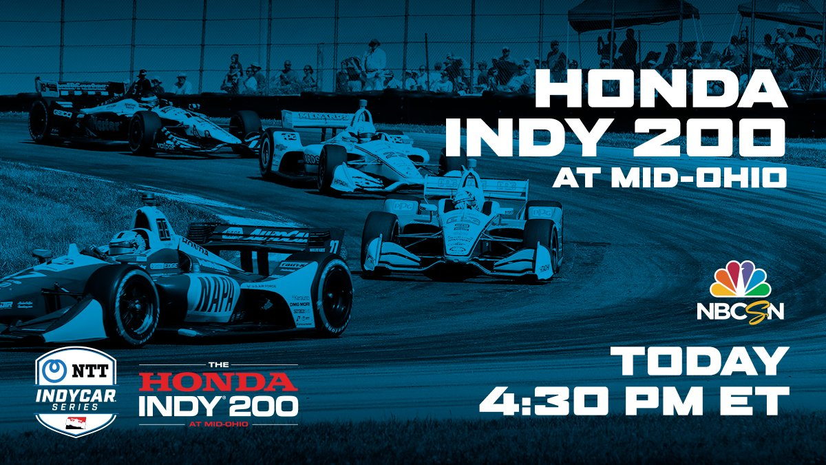 INDYCAR gets back to racing today at @Mid_Ohio! 🏎️ Don't miss the #Honda200 on @nbc  or @NBCSports at 1PM ET. #INDYCAR @IndyCar https://t.co/PdKpG4UDic