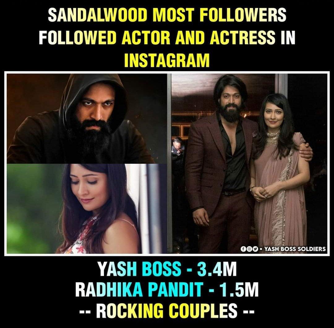 National ☆ & Sandalwood Queen  Holds the Most Number of Followers In @instagram In #KFI Celebrities Wide  #KGFChapter2 #YashBOSS #Yash  #radhikapandit #Nimmarp #Nimmayash #rockingstaryash  #Rockybhai #Instagram #Sandalwood #Yashfc #YashBalaga #Rockybhai PC : @YashSoldiers https://t.co/WkNMfyGQ3L