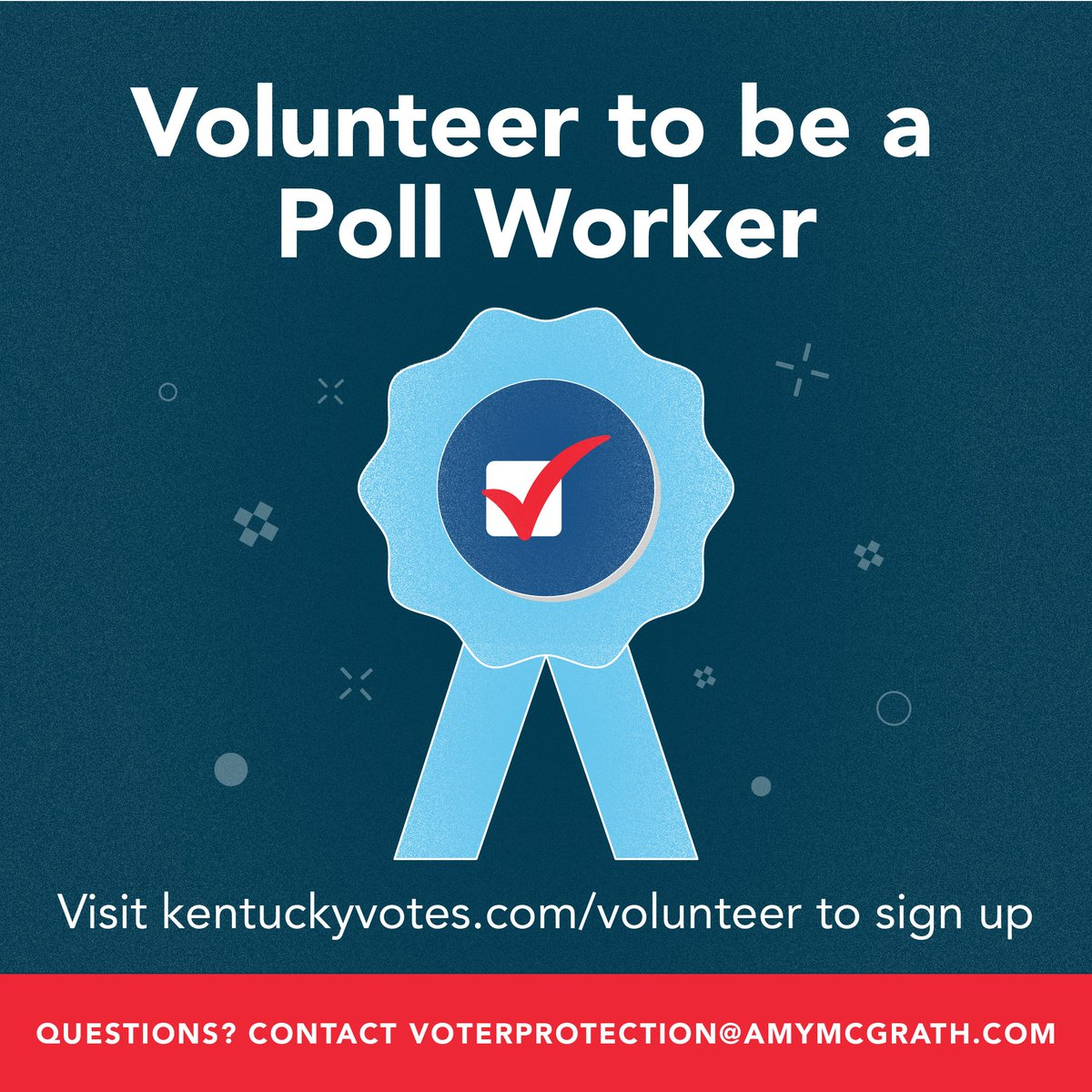 Kentuckians, your country needs you.   If you are able, volunteer to be a poll worker and do your part in defending our democracy.   Visit  to sign up.