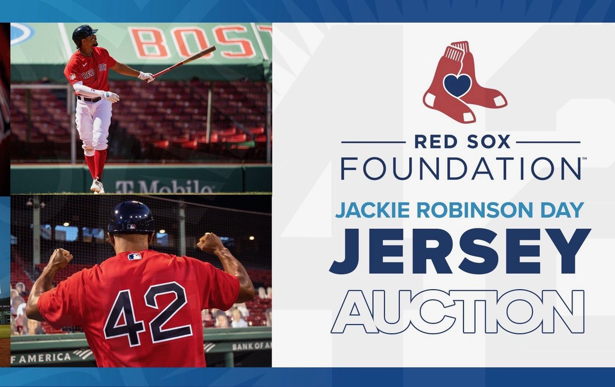 Own a piece of history in support of JRF Scholars courtesy of @RedSoxFund. Join the action at redsox.com/rsfauction #JRDay #JackieRobinson