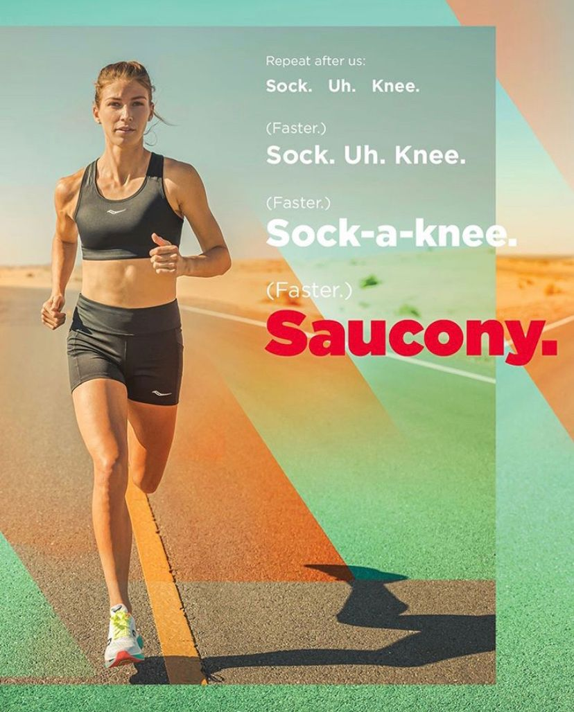 SAY IT LOUDER FOR THE PEOPLE IN THE BACK 👏🗣 Sock. Uh. Knee. ...now you know @saucony