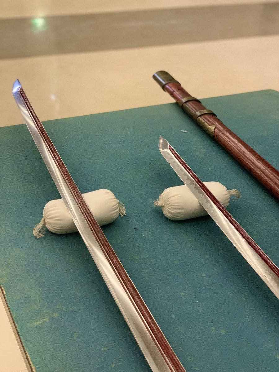 初めてのツーショットです #太郎太刀 #次郎太刀