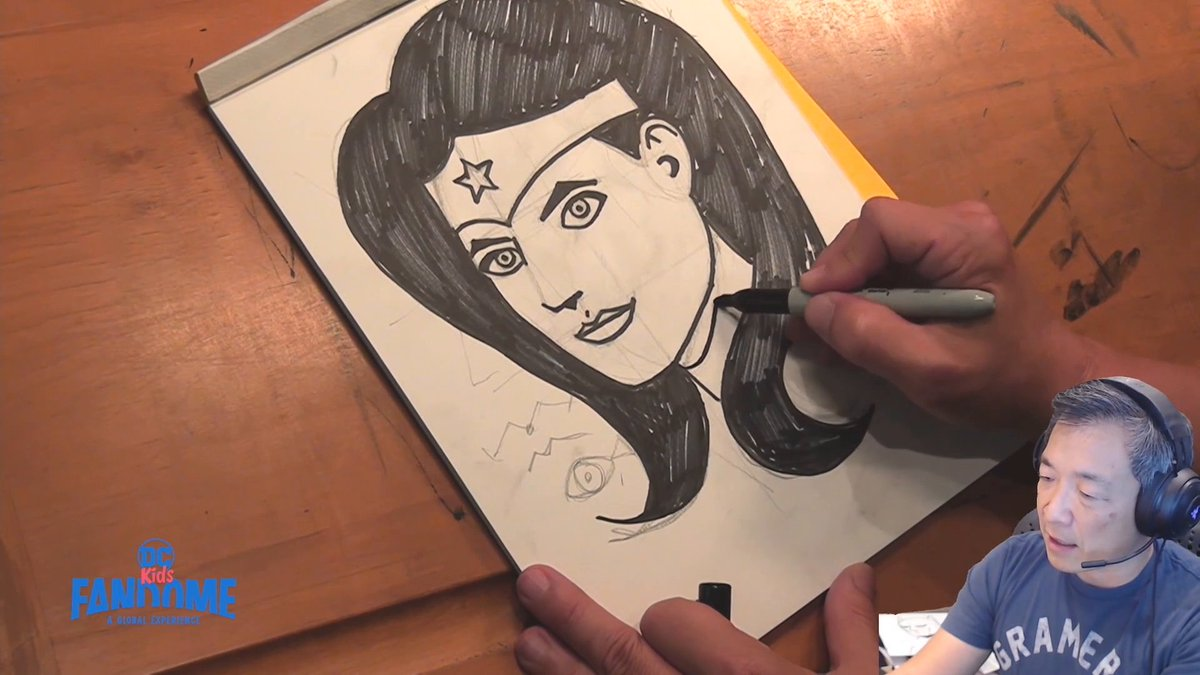 Wow! The power of drawing runs in @jimlee's SUPER family! 🤯💪✏️ Watch even more at bit.ly/3bNtLyy #DCFanDome