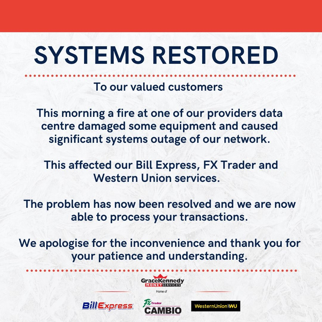 GKMS systems have been restored. Thank you for your patience. https://t.co/2OUWfsCfuM