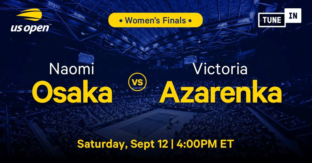 The #2020USOpen Women's Finals is live on #TuneIn! 🎾🏆 Tap now to listen to @naomiosaka take on @vika7 for free with @ATPTennisRadio: https://t.co/lSkTxcy9BN https://t.co/kebcw4iMvg
