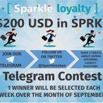 Image for the Tweet beginning: $SPRKL TELEGRAM CONTEST 🚨🚨🚨 💰 Win