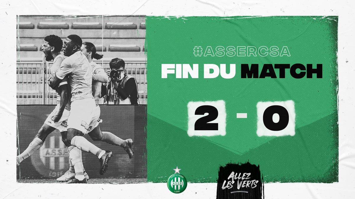 🏁 #ASSERCSA 2-0 90e+5 : FIN DU MATCH ! Nouvelle victoire stéphanoise, une nouvelle fois par 2 buts à 0 ! ALLEZ LES VERTS 🤟