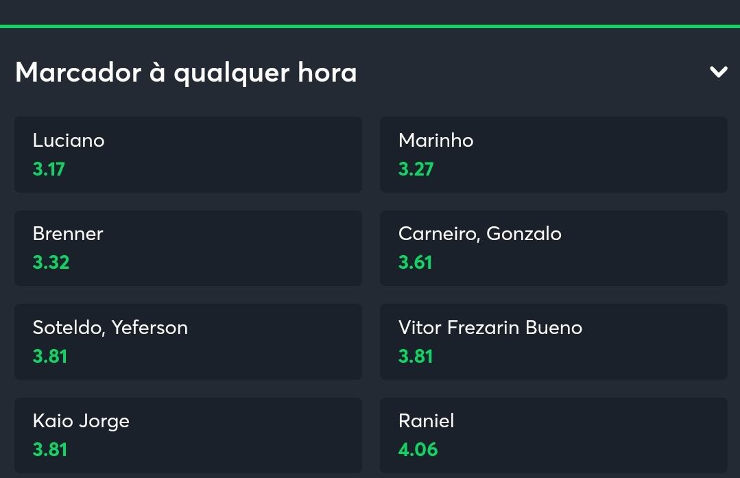 Quem vai marcar gol hoje no clássico paulista????? Se liga nas odds. Tá bom demais, meu filho! Vai lá no site e faça sua aposta: sportsbet.io/pt/sports/even…