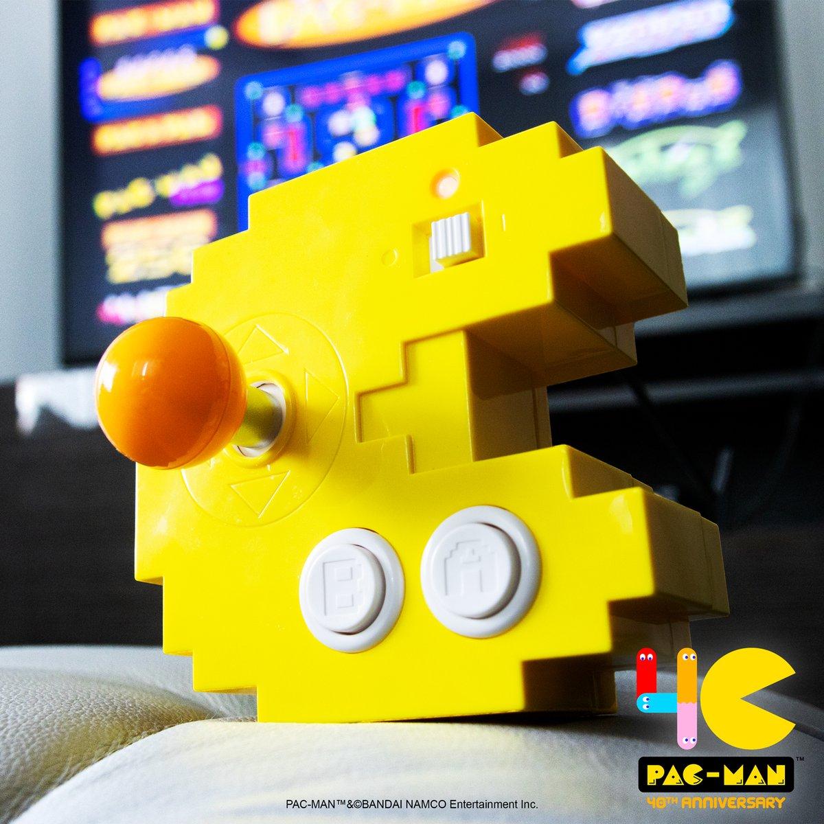 The only way to celebrate #NationalVideoGameDay! 😍  #PacMan #Bandai #BandaiAmerica #BandaiNamco #12gamesin1 #Arcade #Arcadeclassics https://t.co/vyBhcv90fE