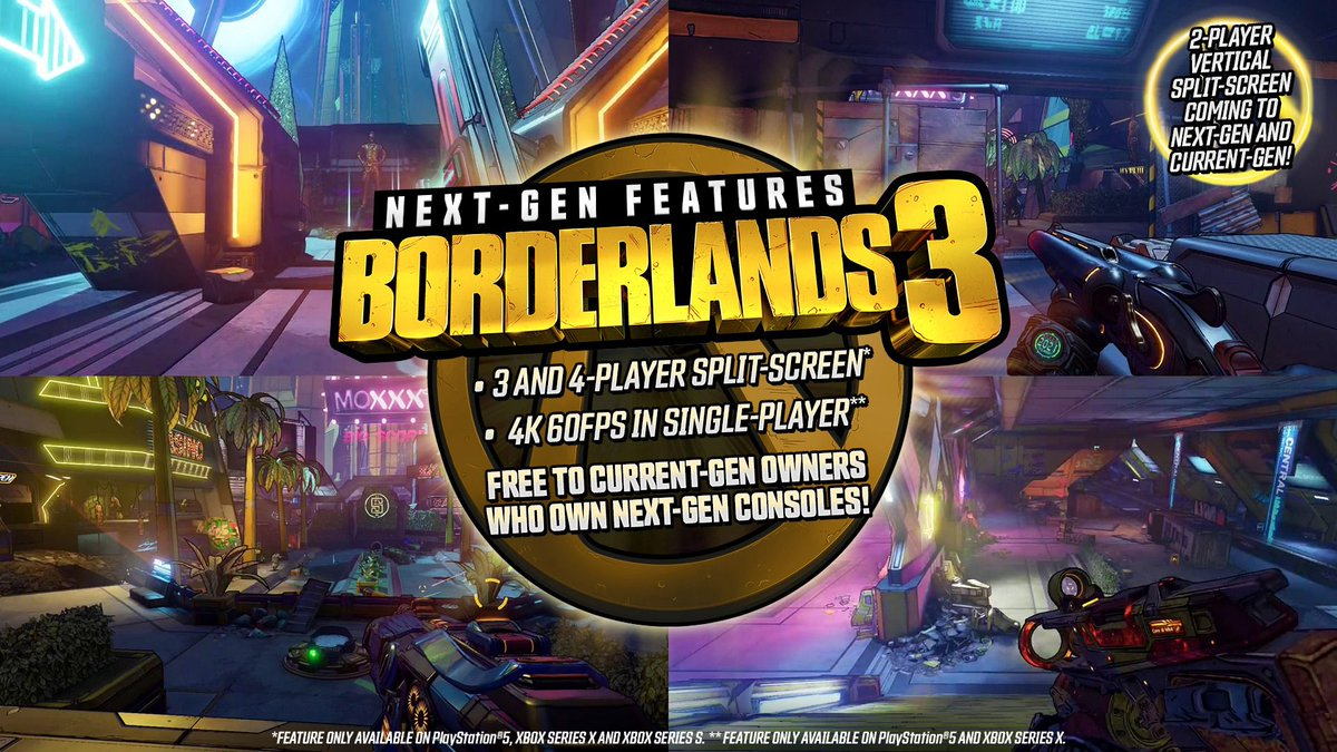 Borderlands 3 is getting a free PS5 and Xbox Series X upgrade — and four-player splitscreen