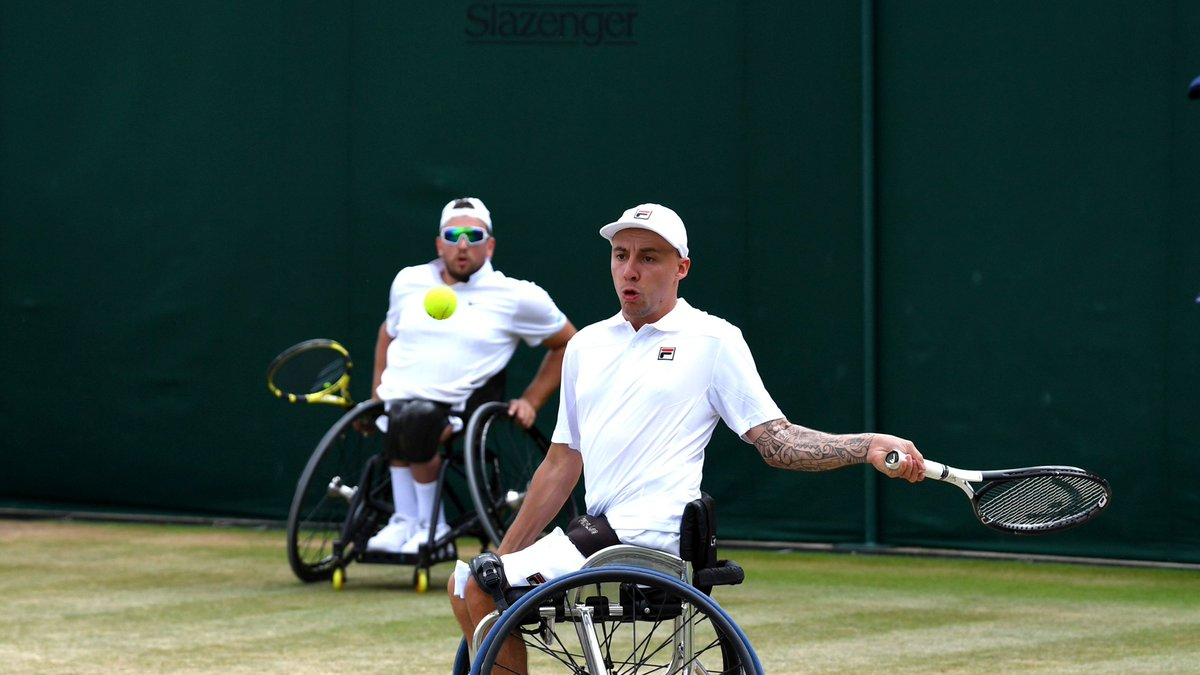 It's a 4⃣th @usopen quad doubles title for @lapstar11 and his second with @DylanAlcott as the Anglo-Australian duo beat Sam Schroder & David Wagner 3-6, 6-4 (10-8)!  #BackTheBrits 🇬🇧 https://t.co/1xqubqkGSe