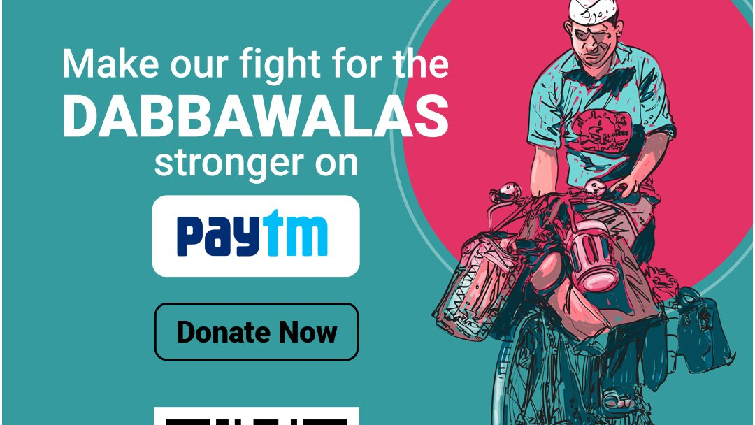 STCI's #Premachadabba campaign is now live on @Paytm. You can show the Dabbawalas of Mumbai that they have someone looking out for them. If you have Paytm, make sure you make a donation towards STCI's campaign. You can also donate on the link: https://t.co/lME1PgG2hK #dabawalla https://t.co/iuwaH36rFc