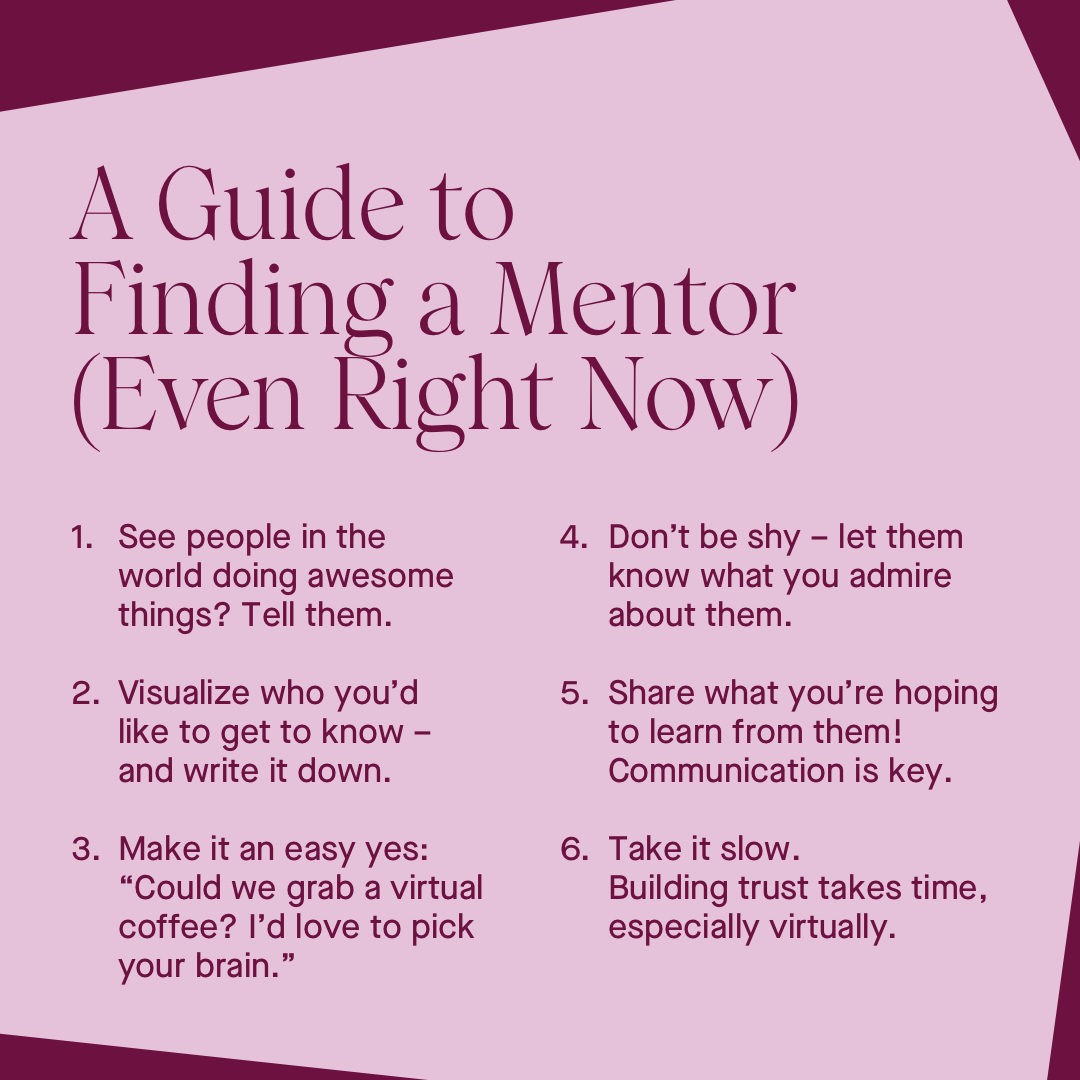 Something you could start sooner than you think 👀  Like and share these quick pointers to find and foster a mentorship, even now during our new normal. And don't hesitate to tell someone they're doing great – give them a tag 👇 https://t.co/TIcJ7xhroa