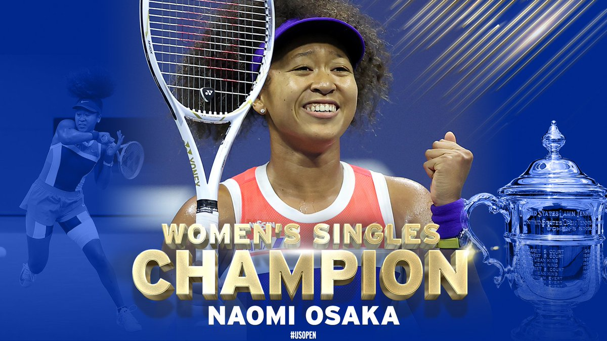 From start to finish.  @naomiosaka completes an impressive #USOpen with a 1-6, 6-3, 6-3 win over Victoria Azarenka in the final! https://t.co/GzhXpFVhnf