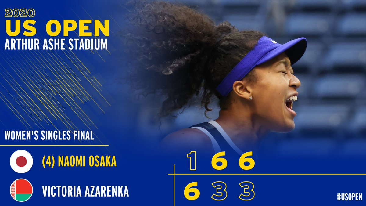 A CHAMPIONSHIP COMEBACK  From a set down, @naomiosaka wins her 2nd career #USOpen title! https://t.co/klOKPGlElO
