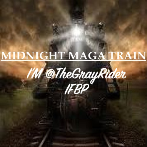 🚂MIDNIGHT🚃MAGA🚃RIDE🚃🇺🇸  No ticket required! Jump onboard!   Unite patriots!  Do this. 🔽  1⃣Follow Me.  @TheGrayRider IFBP  2⃣Retweet WITHOUT Comment. IMPORTANT!  3⃣Leave a comment with your @ handle.  4⃣Follow All Back. #MAGAROLLERCOASTER  #ENATIONTRAINS  #MAGAQUEENTRAINS https://t.co/dQ9BJMzePg