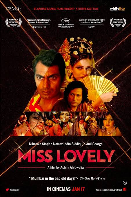 #MissLovely (2014) by #AshimAhluwalia, feat. @Nawazuddin_S #AnilGeorge  @N1har1kaS1ngh #ZeenaBhatia and #ManojBakshi, now streaming on @mubiindia.   @misslovelyfilm @nfdcindia #KUMohanan @cloudlandcanyon