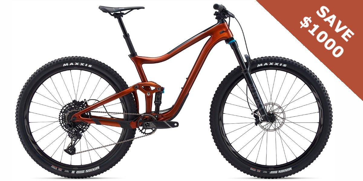 Giant Trance Advanced Pro 29 2 (2020) An affordable performance carbon trail mountain bike. Perfect for intermediate trails with the occasional trip to locations where the riding is raw and technical. More ––> https://t.co/bAaUlzasyr #giant #trance #29er https://t.co/X0bpOOz1xl