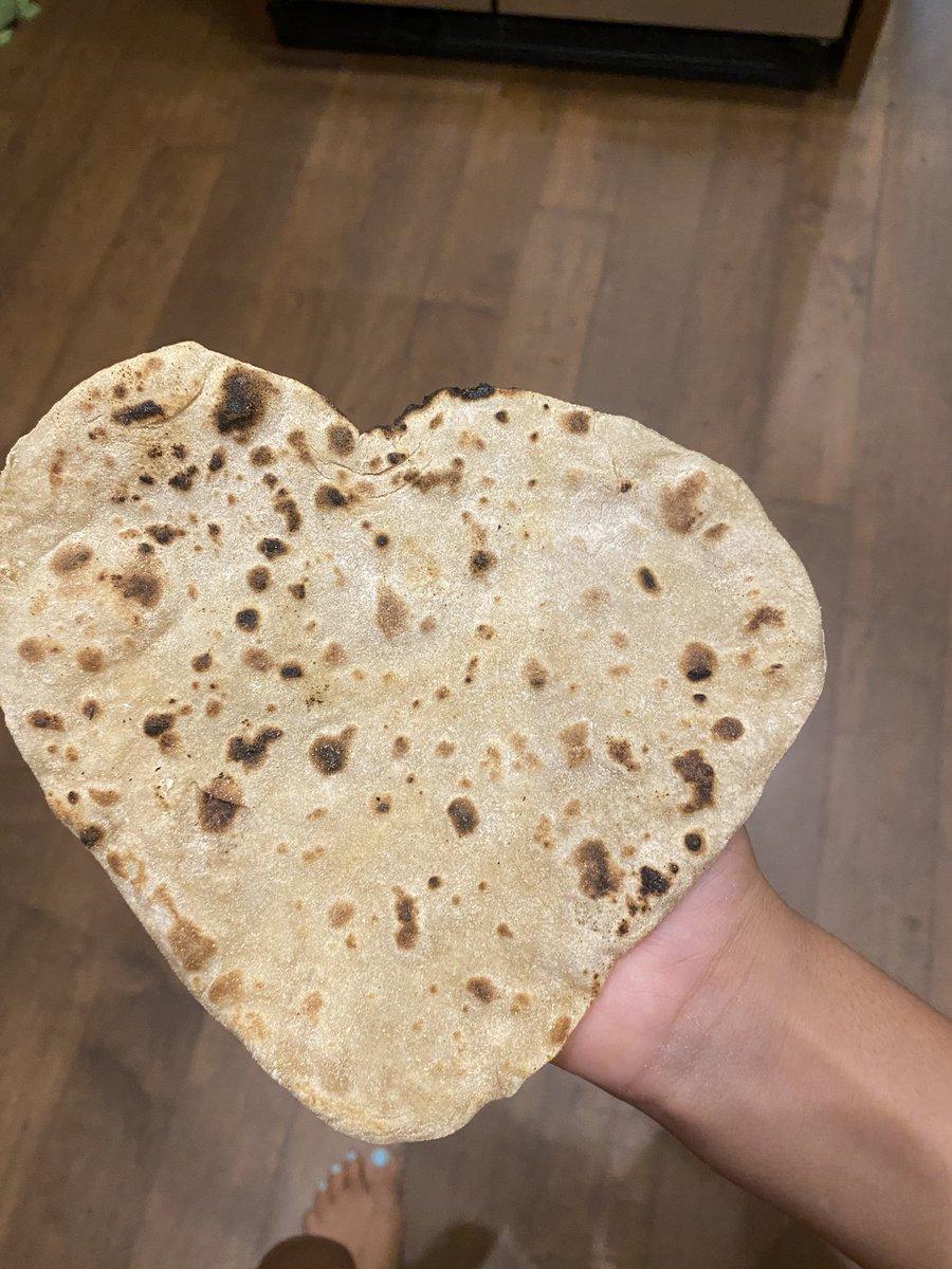 Heart roti. #cardiologist kid #indianfood #plants