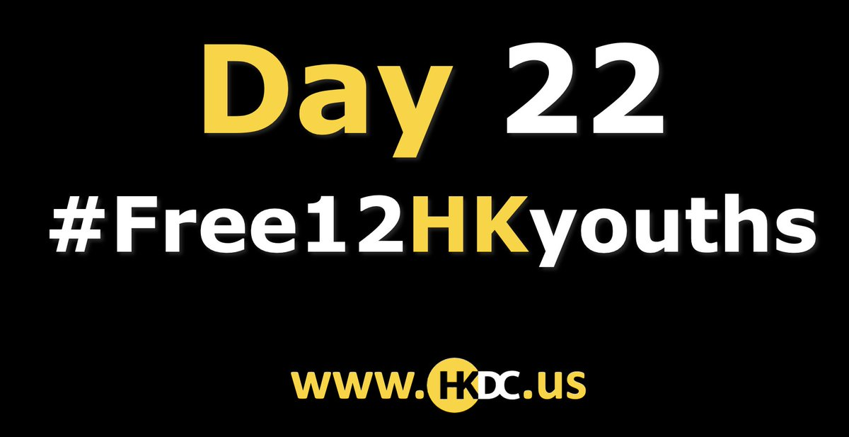 This is your daily reminder that 12 Hong Kongers are still detained without access to adequate legal representation or life-saving medicines and their families still have no information on their conditions. #save12hkyouths #Day22