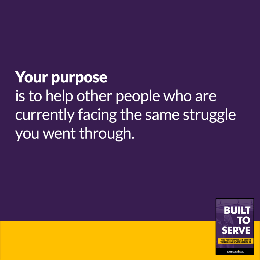 Your purpose is to help other people who are currently facing the same struggle you went through.  Do you agree or disagree? ______________________________________  #leadership #inspiration #personaldevelopment https://t.co/kAtF7UpEXw