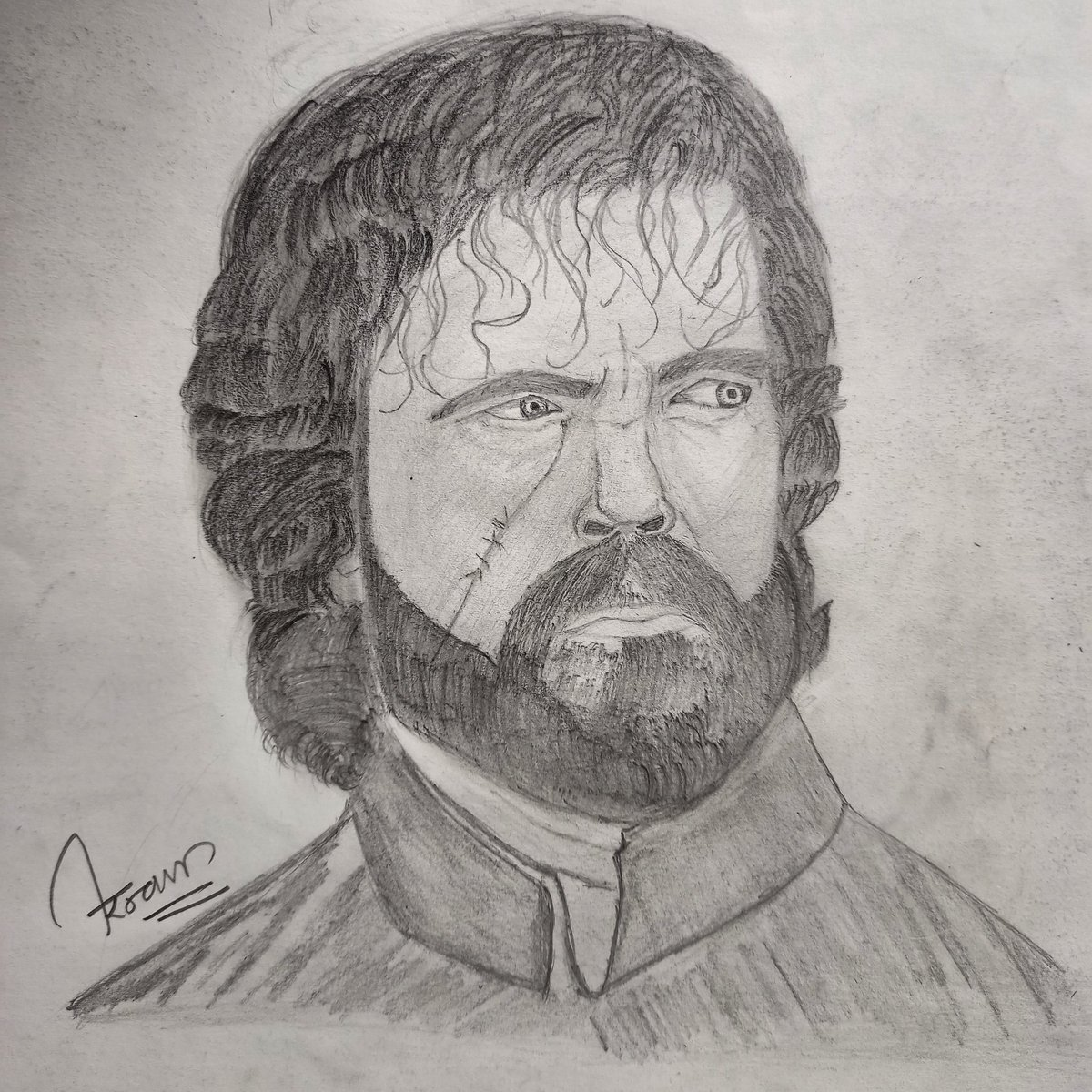 Pencil sketch @Peter_Dinklage as #tyrionlannister from @GameOfThrones https://t.co/tK7KJbWhdb