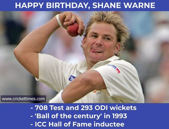 Happy birthday to spin wizard, Shane Warne