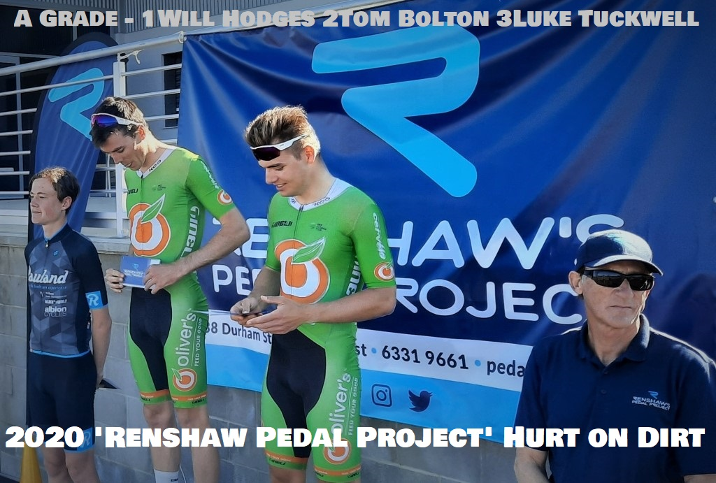 "The Grade Winners of the 2020 ""Renshaw Pedal Project"" Hurt on Dirt Race are- WillHodges AGrade -CadelLovett BGrade -NicBarrett CGrade -DaveHyland DGrade -Robyn Partridge EGrade & HolleeSimons was the top Female Rider - see more details here - https://t.co/IRojoJIGQg https://t.co/hwW814zD2P"