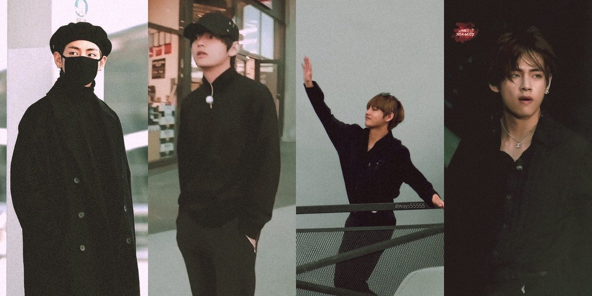 📷 taehyung all black outfit film