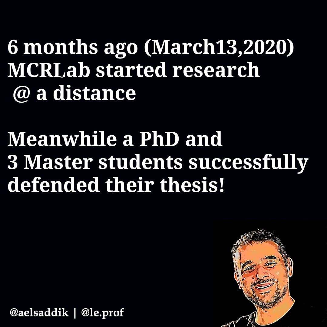 6 months ago (March13,2020)  MCRLab started research  @ a distance  #phdlife #success #COVID19 #research https://t.co/1g7bl2JL00
