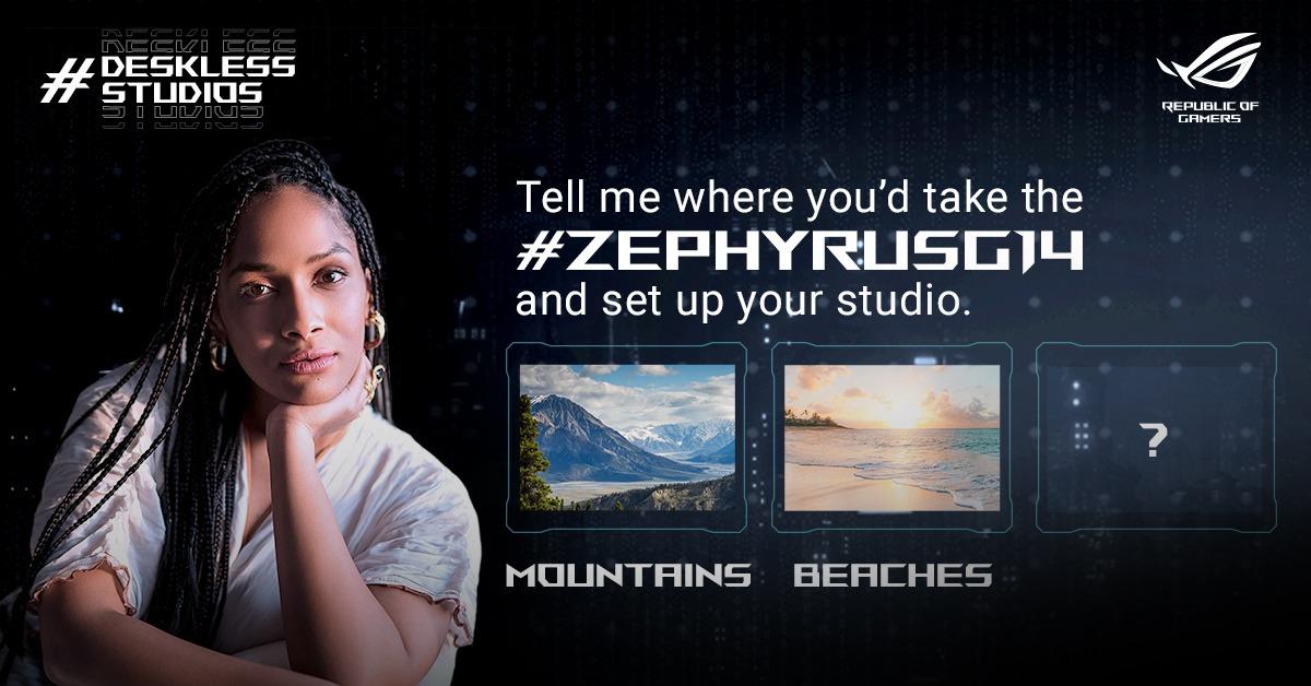 Tell me your favourite spots to catch that elusive piece of inspiration. #DesklessStudios #ZephyrusG14. #ROGIndia #ROG #RecreateTheRules https://t.co/dr7KQCn75K