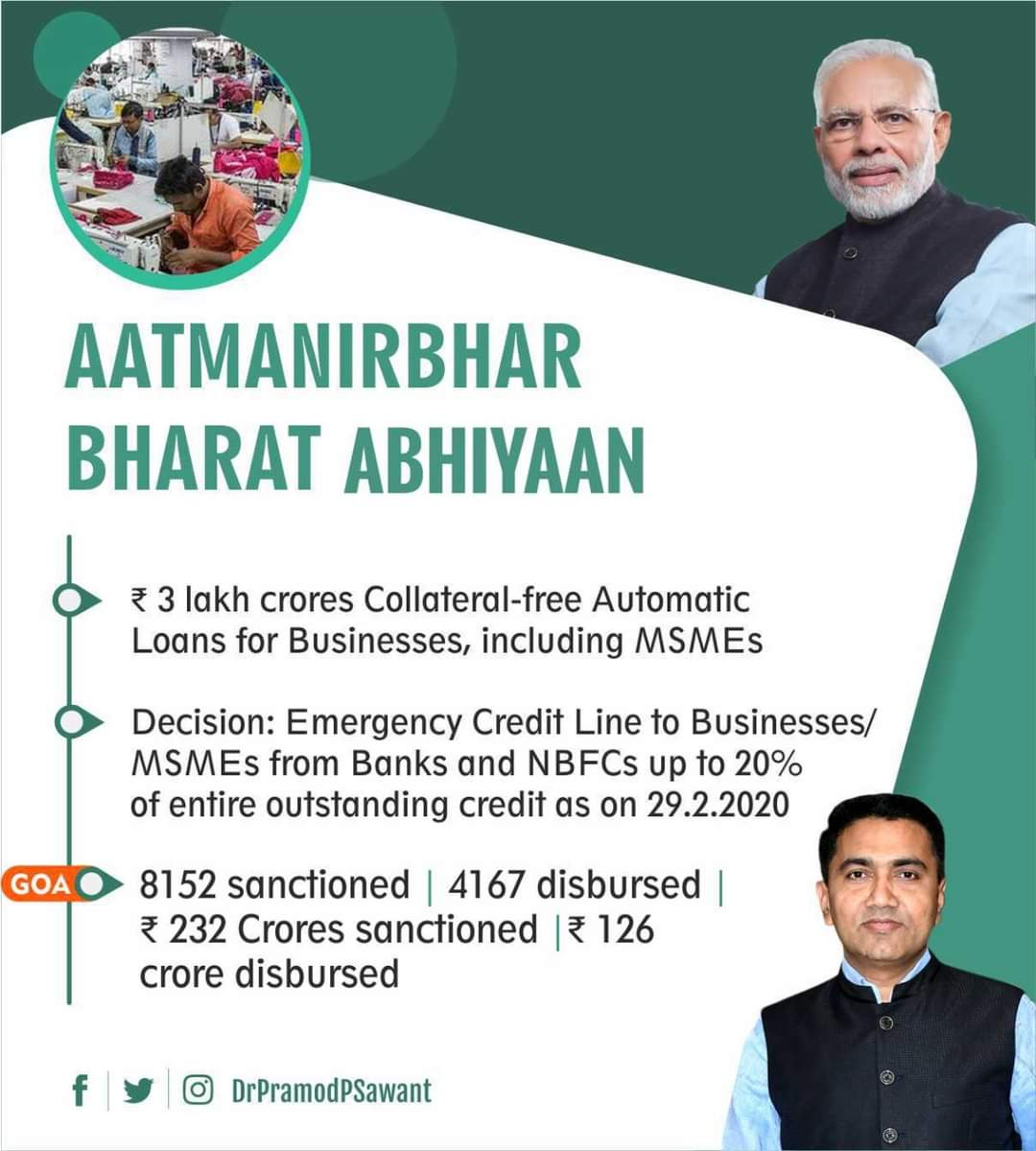 #MSME sector has been the key focus area under #AatmaNirbharBharatAbhiyaan. https://t.co/wF5DHAQnNh