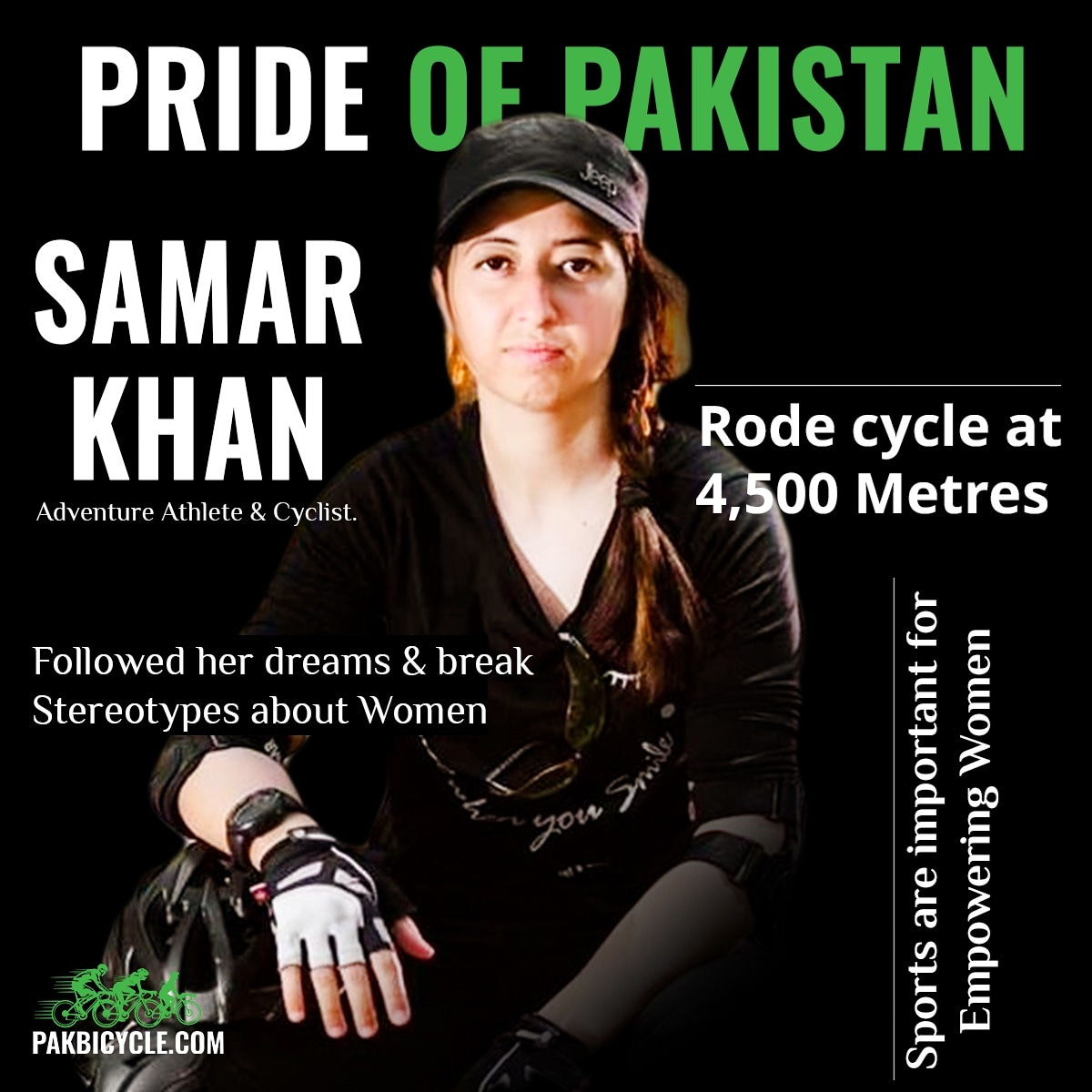 A Pakistani cyclist who became the first woman in the world to ride cycle at 4,500 meters Biafo Glacier in the #Karakoram Mountains of #GilgitBaltistan  and made whole nation proud. we wish you good luck for your upcoming adventures.  #Cycling #Fun #Family #pakbicycle #SamarKhan https://t.co/rSzP16eHTp