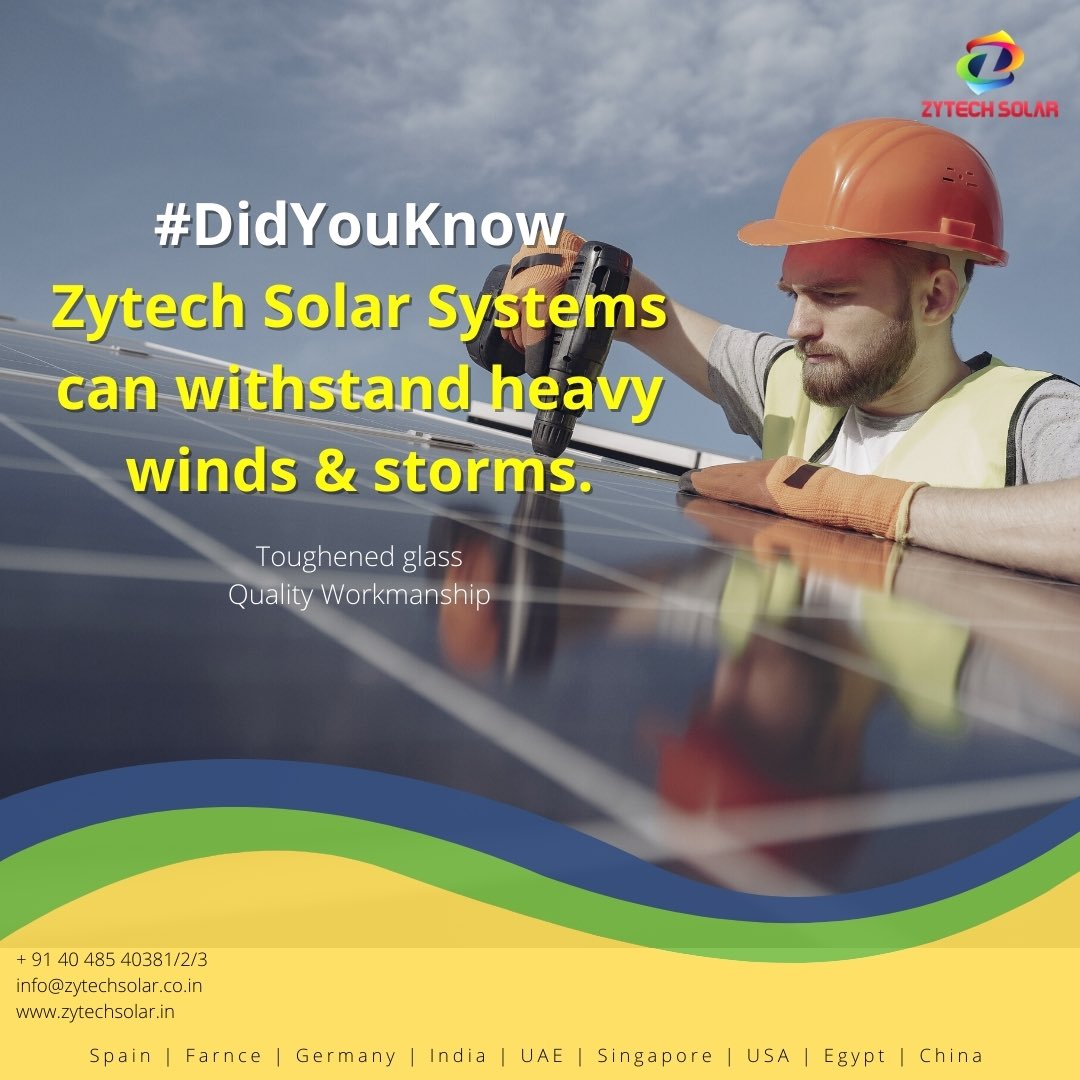 #zytechsolar #didyouknow #didyouknowfacts #solarnews #solarpower #industrial #Hyderabad #powerproject #pharmaceutical #construction #Telangana #southindia #architect #realestate https://t.co/M9TyOhalFG