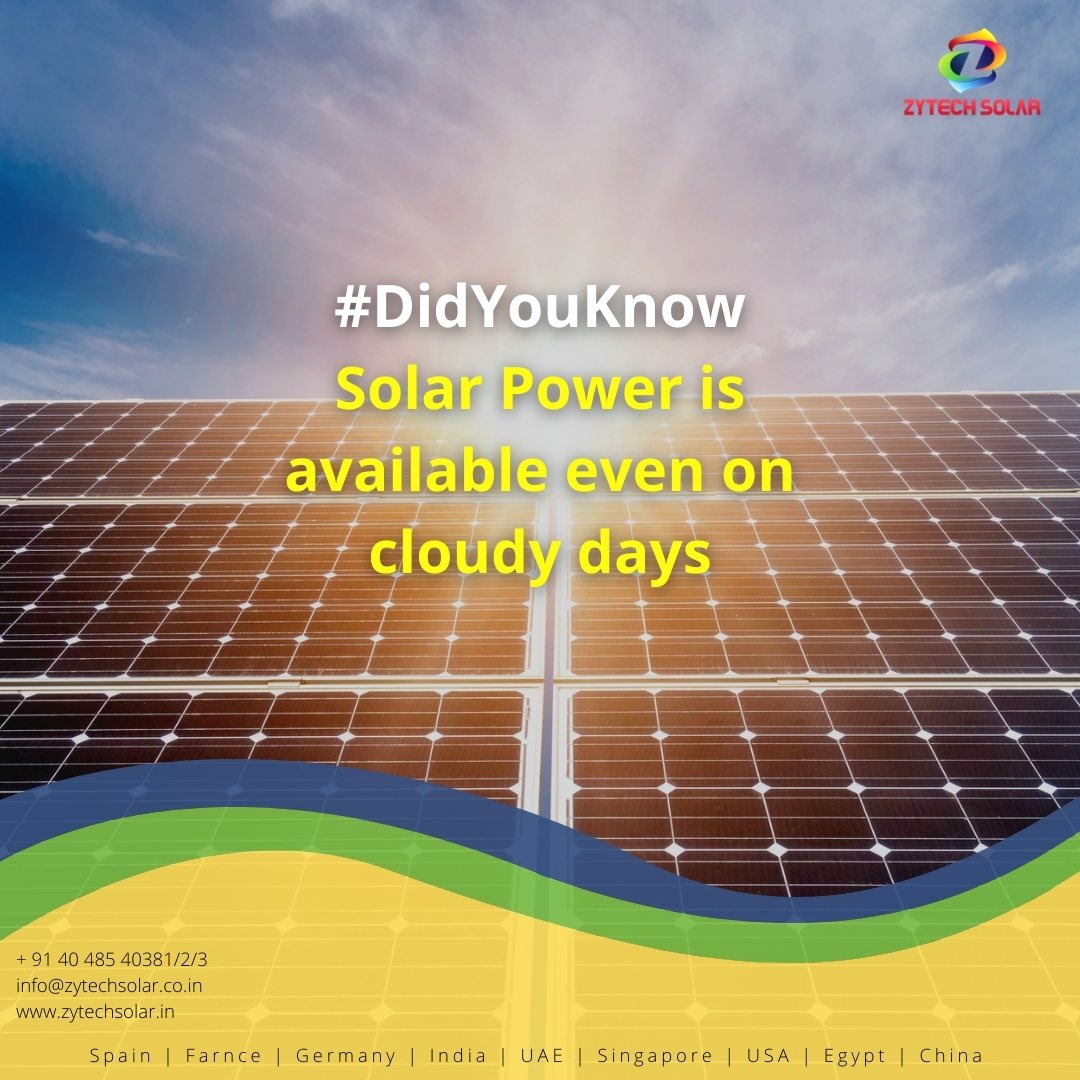 #zytechsolar #didyouknow #didyouknowfacts #solarnews #solarpower #industrial #Hyderabad #powerproject #pharmaceutical #construction #Telangana #southindia #architect #realestate https://t.co/DXoRQuy1Hn