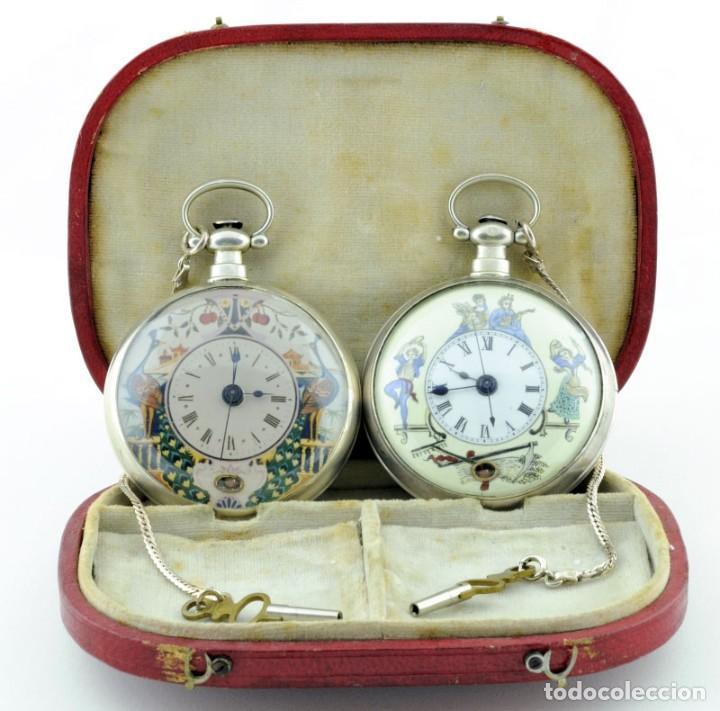 """Conjunto de dos relojes de bolsillo de la alta colección """"chinesse"""" (1810-1830).  Aprovecha las últimas horas de la """"Semana del Reloj"""" con descuentos especiales, subastas exclusivas y envío gratuito en algunos lotes:  https://t.co/PKIxAOem9p https://t.co/fUpB9DAtl1"""