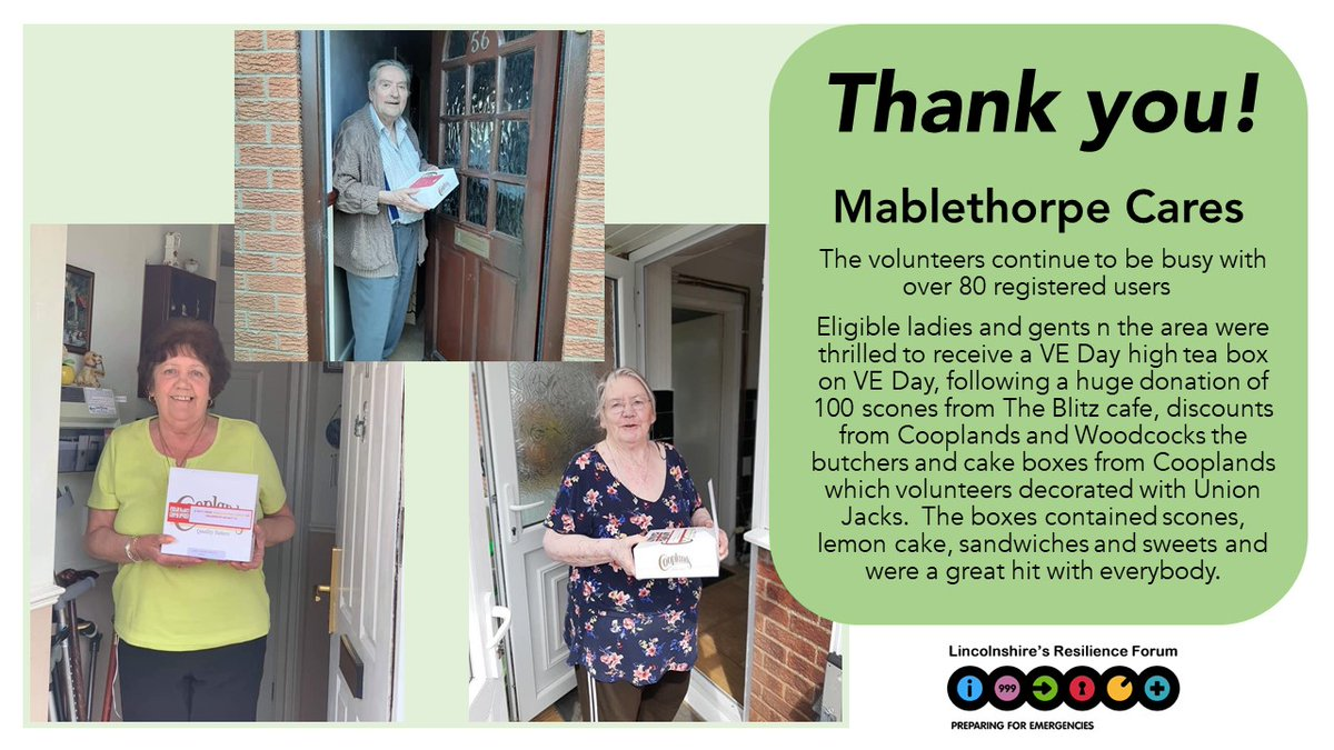 We would like to extend a big Thank You to everyone who has volunteered their time to help others during the Covid-19 pandemic, your support has been invaluable.   Thank You Mablethorpe Cares! https://t.co/G4CKkD4Rs4